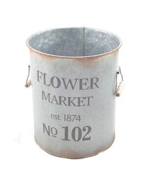 Bloom Room Large Metal Pot-Flower Market