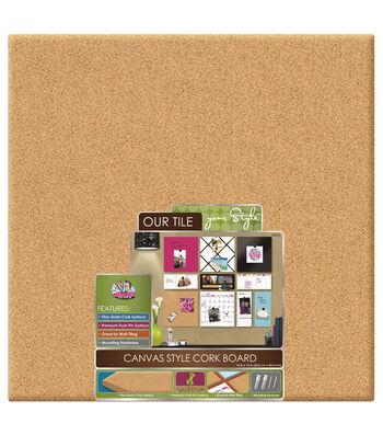 The Board Dudes 14''x14'' Canvas Style Unframed Corkboard