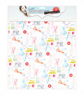 Papermania Happy Days Haberdashery Self-Adhesive Fabric Paper 12\u0022x12\u0022
