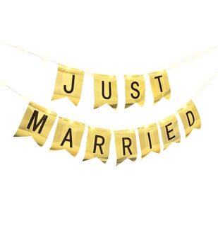 Just Married LED Banner Kit