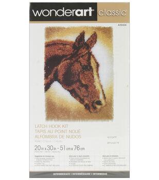"Wonderart Classic Latch Hook Kit 20""X30""-Horse"
