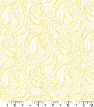 Keepsake Calico Cotton Fabric-Cream Paisley