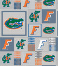 University of Florida Gators Fleece Fabric -Gray Block