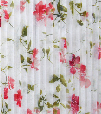 Sew Sweet Pleated Chiffon Fabric -Floral Print