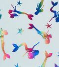 Specialty Netting Fabric 57\u0027\u0027-Rainbow Foil Mermaid