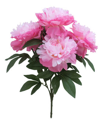 Fresh Picked Spring 20.5'' Peony Bush-Tonal Pink