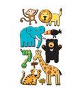 EK Success Puffy Dimensional Stickers-Zoo