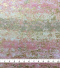 Knit Prints Rayon Spandex Fabric-Pink Foil Abstract