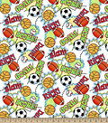 Snuggle Flannel Fabric -Game On