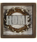 Hudson 43 Rustic Shadow Box with Wreath-Home