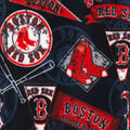 Boston Red Sox Fleece Fabric-Vintage