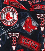 """Boston Red Sox Fleece Fabric 58""""-Vintage, , hi-res"""