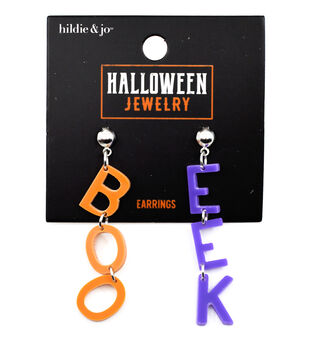 hildie & jo Halloween Jewelry Boo & Eek Earrings