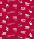 University of Oklahoma Sooners Cotton Fabric -Red All Over