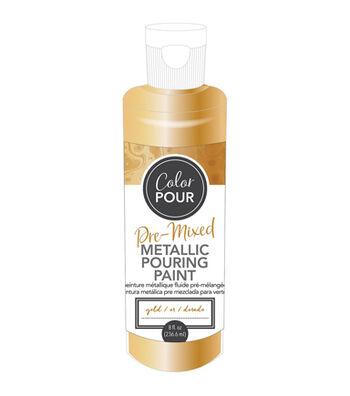 American Crafts Color Pour 8 fl.oz. Pre-mixed Metallic Paint