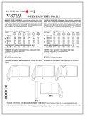 Mccall Pattern V8769 Y (Xsm-Sml-Vogue Pattern
