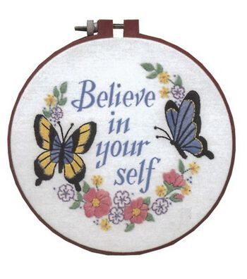 Dimensions Learn-A-Craft Crewel Embroidery Kit Believe In Yourself