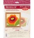 RIOLIS Create it Yourself 4\u0027\u0027x4\u0027\u0027 Longstitch Embroidery Kit-Poppies