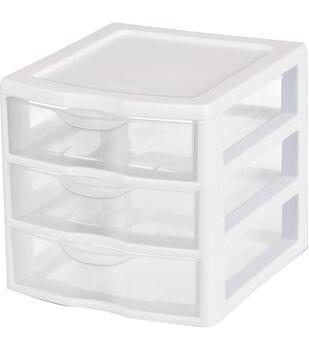 Sterilite Small 3-drawer Storage Unit-White