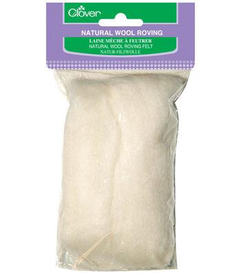 Clover Natural Wool Roving Felt 0.3 oz