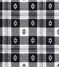 Snuggle Flannel Fabric 42\u0022-Aztec Plaid Black