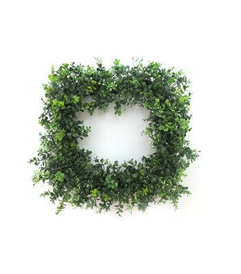 Fresh Picked Spring 18.5'' Square Boxwood Wreath