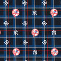 NY Yankees Flannel Fabric-Plaid