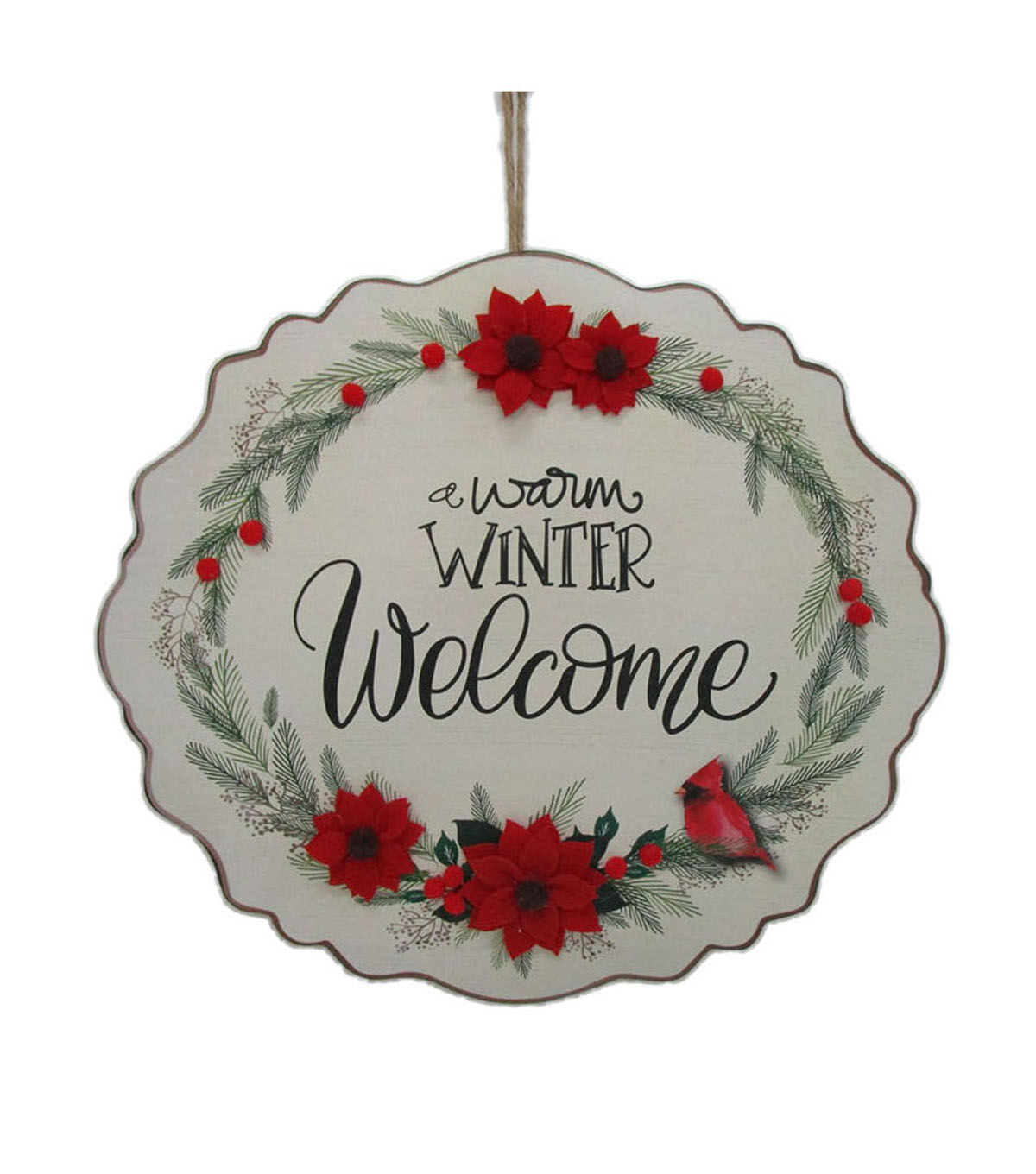 Makeru0027s Holiday Christmas Wall Plaque A Warm Winter Welcome