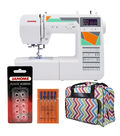 Janome MOD-50 Sewing Machine with Bonus Tote Bag and Accessories