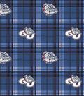 Gonzaga University Bulldogs Fleece Fabric -Plaid