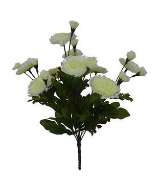 Blooming Autumn 14'' Mum Bush-White