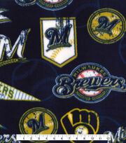 Milwaukee Brewers Fleece Fabric-Vintage, , hi-res