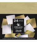 Black Ink 24 pk 6\u0027\u0027x6\u0027\u0027 Origami Papers-Metallic Mulberry