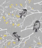 Keepsake Calico Cotton Fabric -Black Birds on Branches, , hi-res