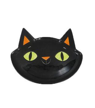 Maker's Halloween Ceramic Cat Head Serving Plate