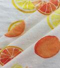 Knit Prints Rayon Spandex Fabric-Peach Citrus Fruits