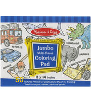 Blue -jumbo Coloring Pad, , hi-res
