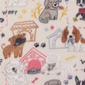 Blizzard Fleece Fabric-Sketched Pups on Tan