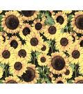 Harvest Cotton Fabric 44\u0022-Packed Sunflowers