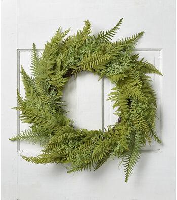 Fresh Picked Greens 23'' Fern Wreath