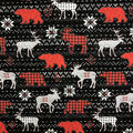 Novelty Cotton Fabric -Patterned Wild Animals Sweater Knit