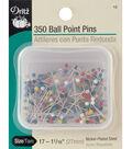 Dritz Steel Ballpoint Pins-Size 17 350/Pkg