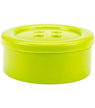 "Button Shaped Storage Box 3.2""-Lime"
