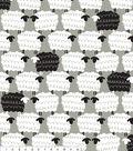 No Sew Fleece Throw Kit 48\u0022-Gray Sheepie