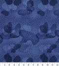 Keepsake Calico Cotton Fabric -Blue Depths Dot Blender