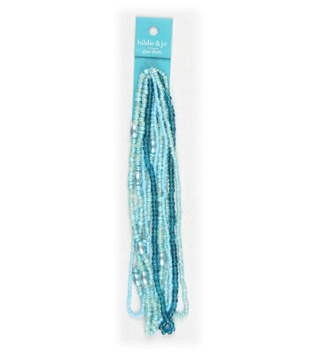 hildie & jo Multi Glass Strung Seed Beads-Turquoise