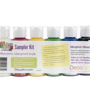 DecoArt Crafter's Acrylic Sampler Kit-Primary, , hi-res