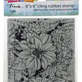 Stampendous Cling Stamps-Dahlia Collage