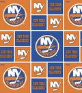 2 Yard Pre-Cut New York Islanders Quilt Cotton Fabric Remnant-Block