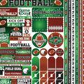 Reminisce Football 50 pk Cardstock Stickers